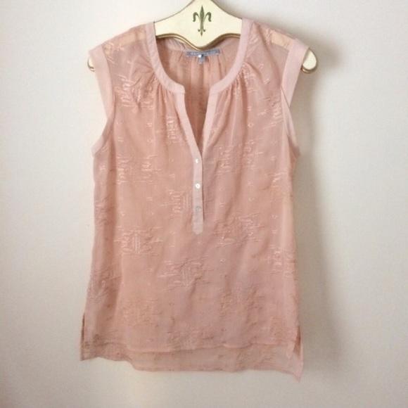 b904615e62d053 Daniel Rainn Tops - Daniel Rainn sleeveless blush sheer top